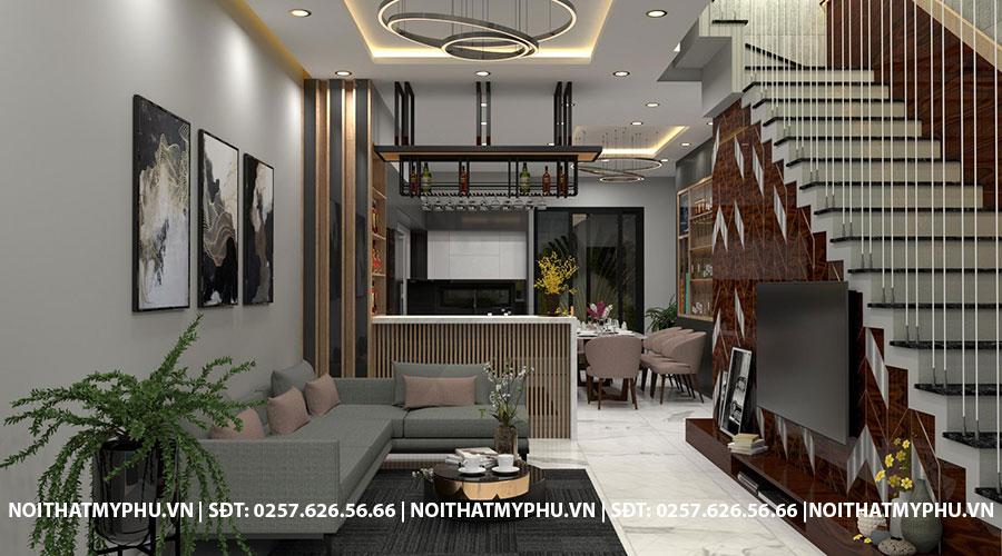Phòng khách nhà phố trần phú Tuy Hòa Phú Yên