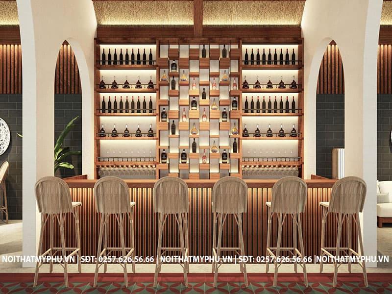 Quầy bar nhà hàng long thủy