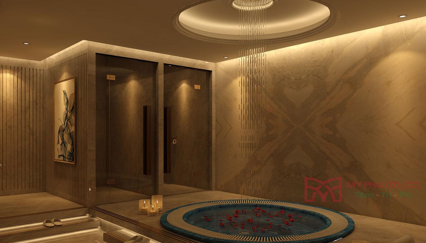 Phòng tắm tại Sala chú Lâm