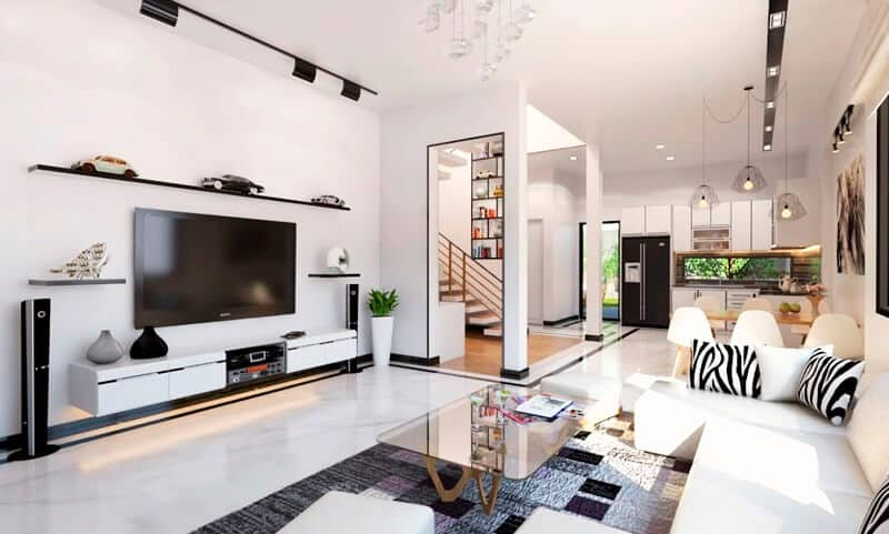 thiết kế nội thất theo ánh sáng