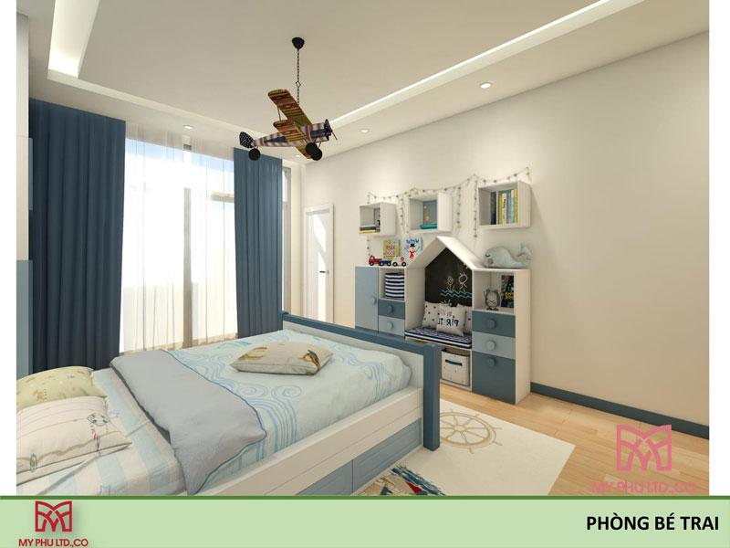 Phòng ngủ bé trai nhà chị hải