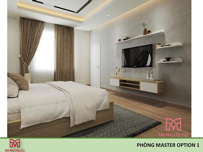 Phòng ngủ master nhà chị hải