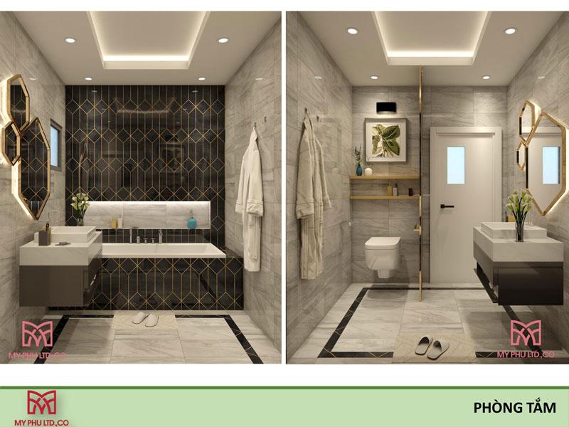 phòng tắm đẹp tại nhà chị hải đông hòa