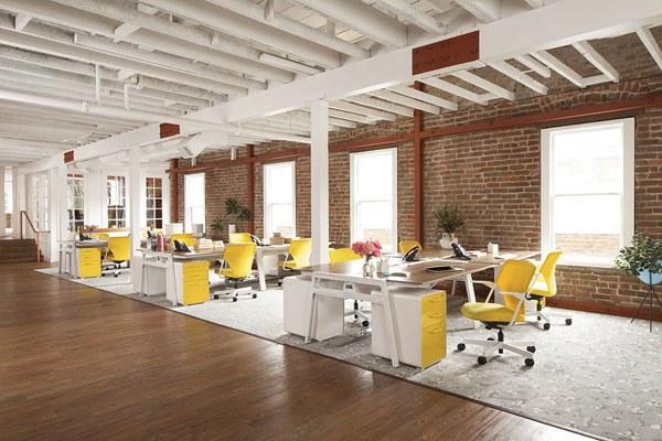 bố trí văn phòng theo không gian mở