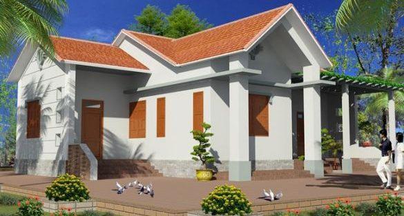 Mẫu thiết kế nhà cấp 4 nông thôn đẹp