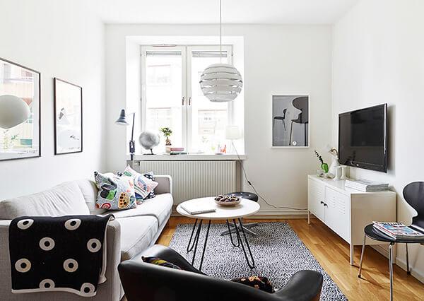 mẫu thiết kế phòng khách 12m2 hiện đại