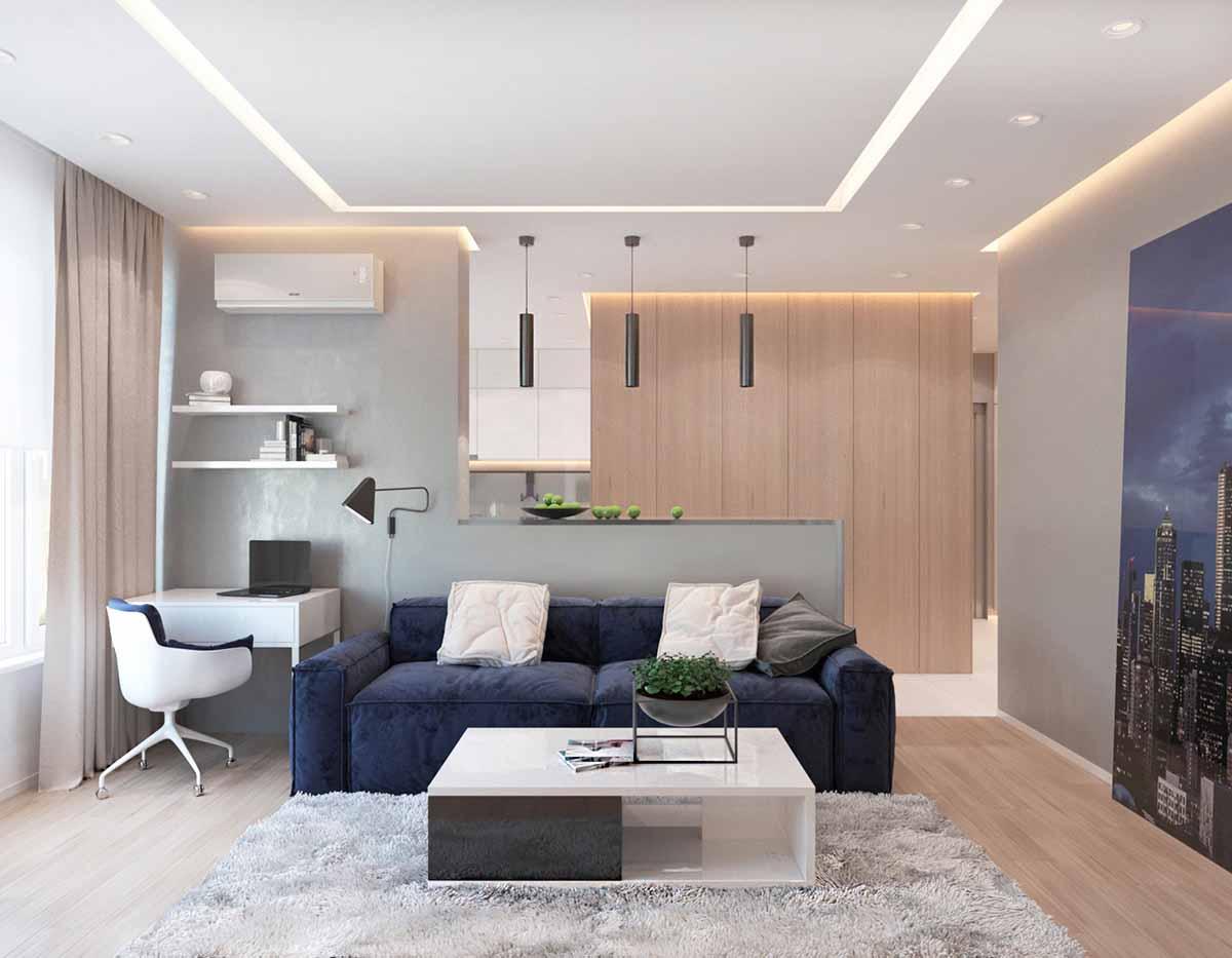 phòng khách chung cư 10m2