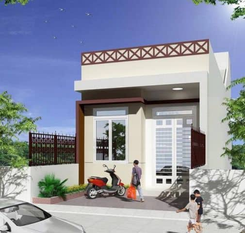 Thiết kế nhà 1 tầng 100m2 với 2 phòng ngủ đơn giản