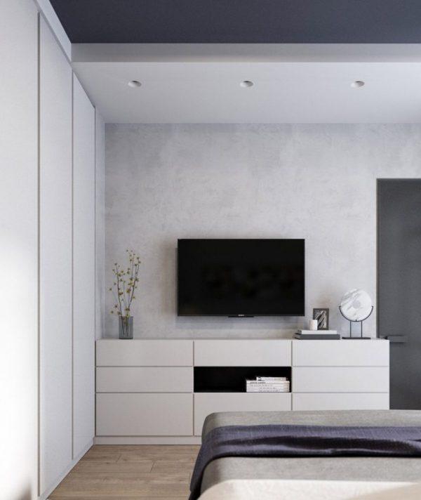 thiết kế nhà chung cư 70m2 2 phòng ngủ