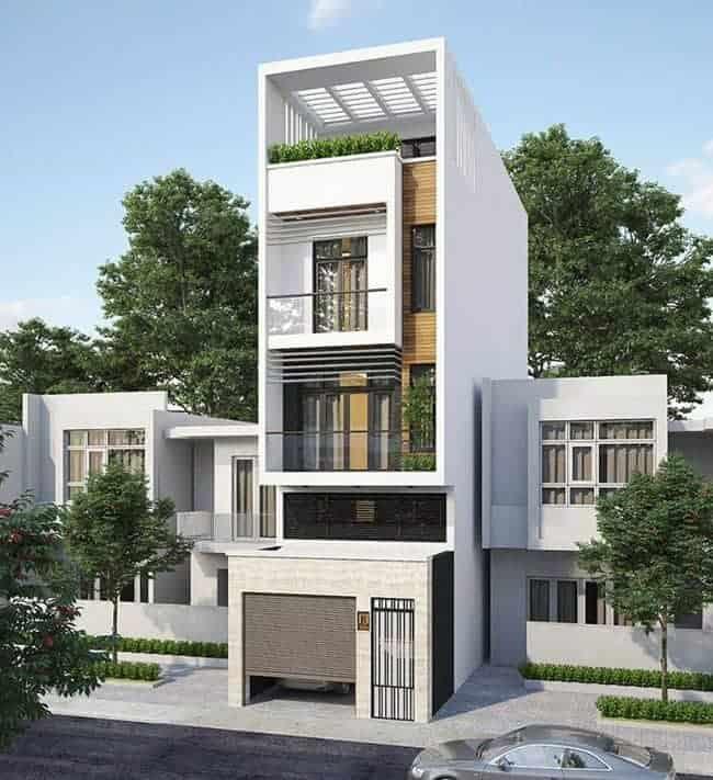 Thiết kế nhà đẹp lệch tầng 5×20m với 4 tầng cho gia đình trẻ