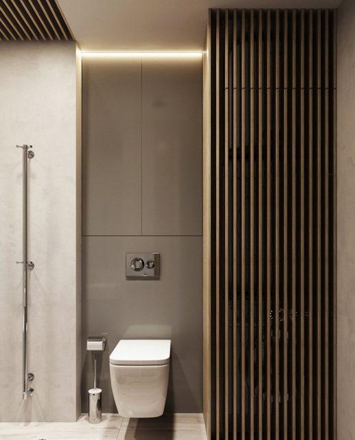 Nhà vệ sinh không quá cầu kỳ, không quá rộng nhưng đảm bảo đầy đủ tiện ích và công năng khi sử dụng.