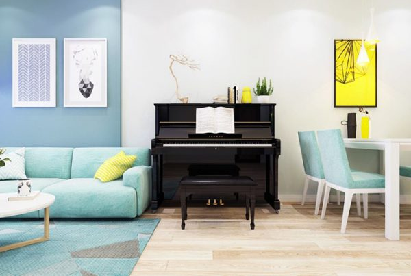 thiết kế nội thất phòng khách chung cư 70m2