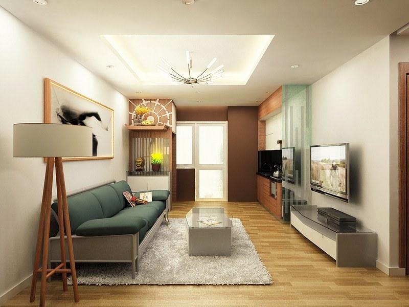 trang trí nội thất phòng khách 10m2