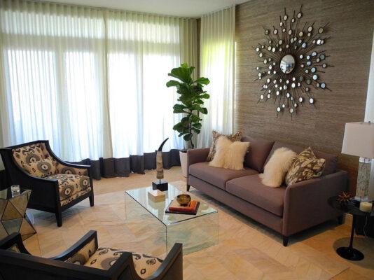 trang trí phòng khách 18m2