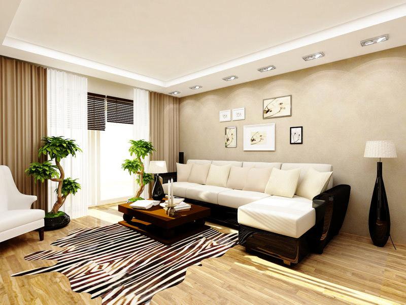 Treo tranh ảnh thêm xinh động cho phòng khách 18m2