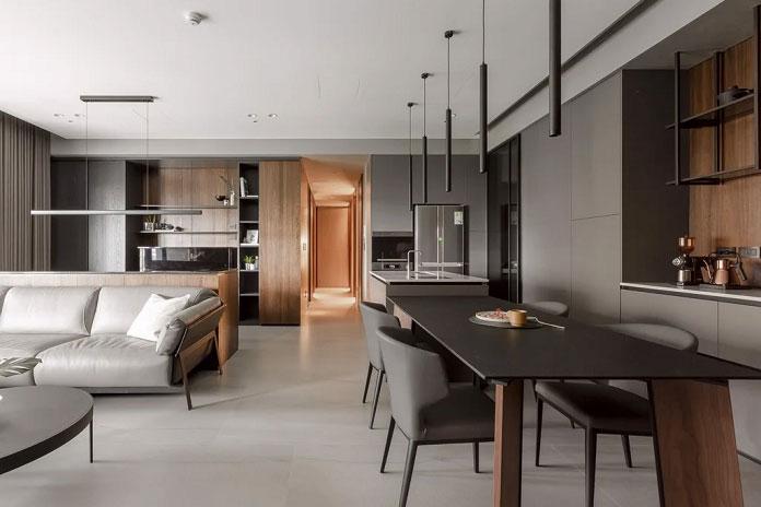 phân chia không gian nội thất căn hộ hợp lý