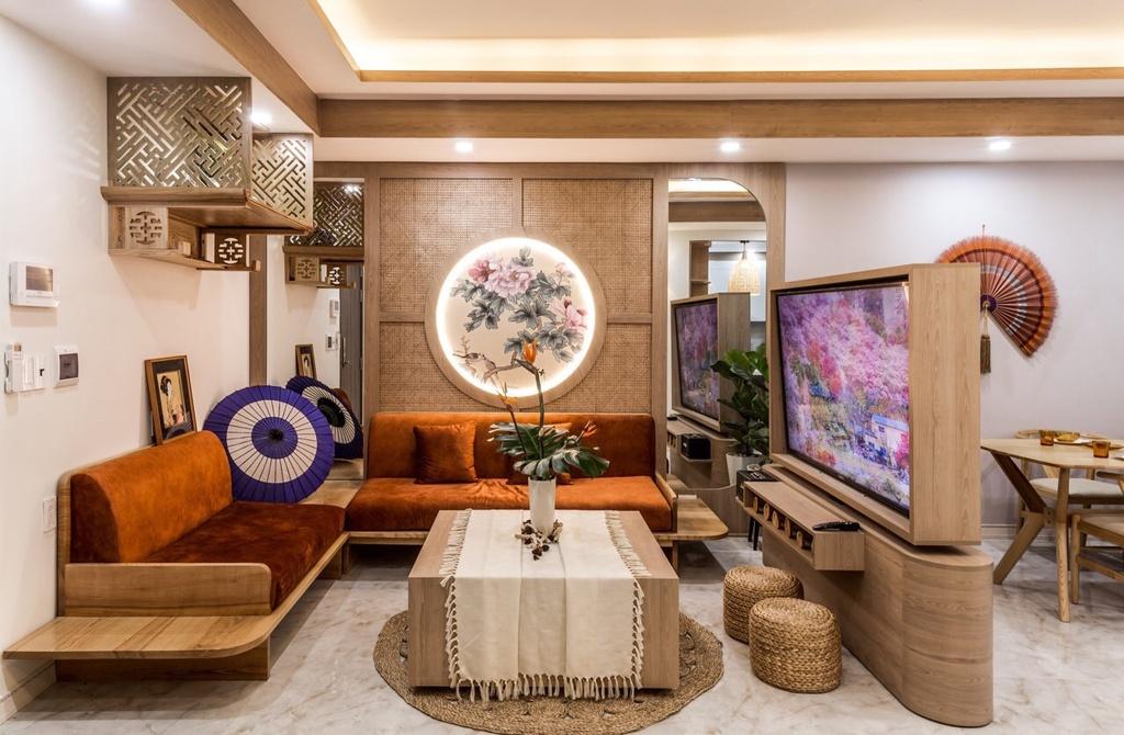 Phong cách thiết kế Á Đông tại chung cư 90m2