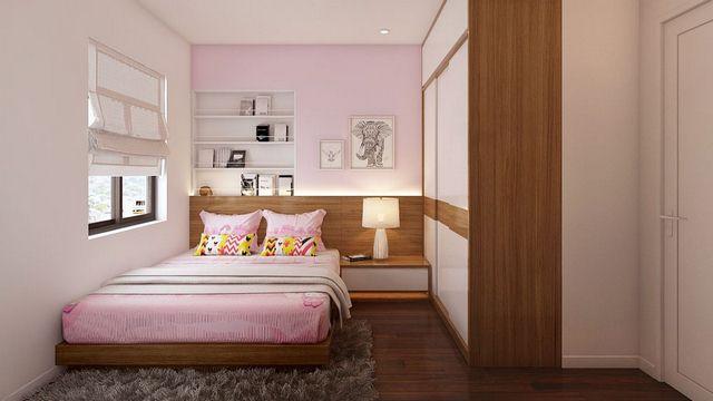 thiết kế nội thất phòng ngủ cho bé gái tại chung cư 90m2