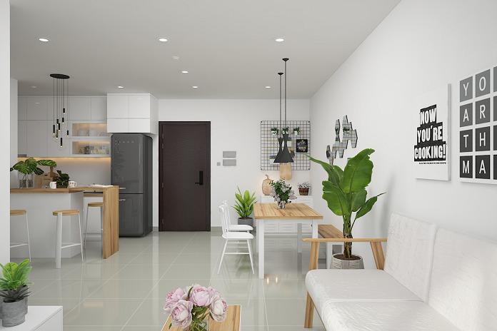 thiết kế nội thất nhà chung cư 90m2