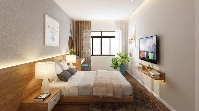 Thiết kế nội thất phòng ngủ master tại Chung Cư 90m2