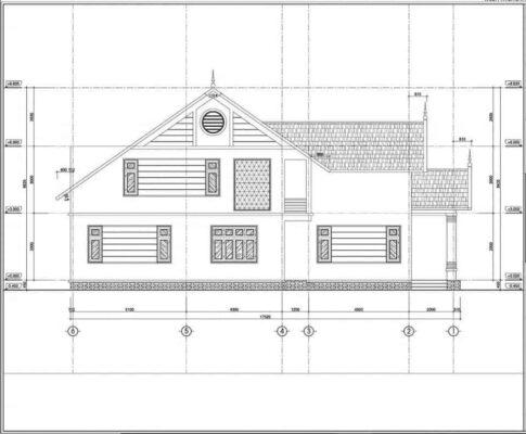 Bản vẽ phối cảnh kiến trúc nhà cấp 4 mái thái gác lửng 3 phòng ngủ