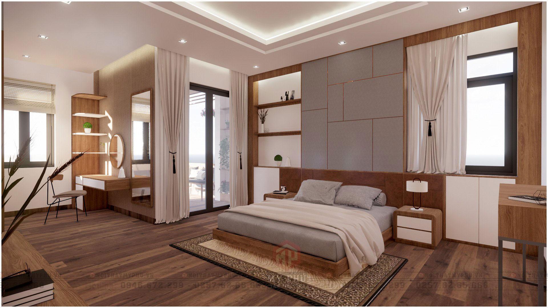 Phòng ngủ master tại Nhà Phố