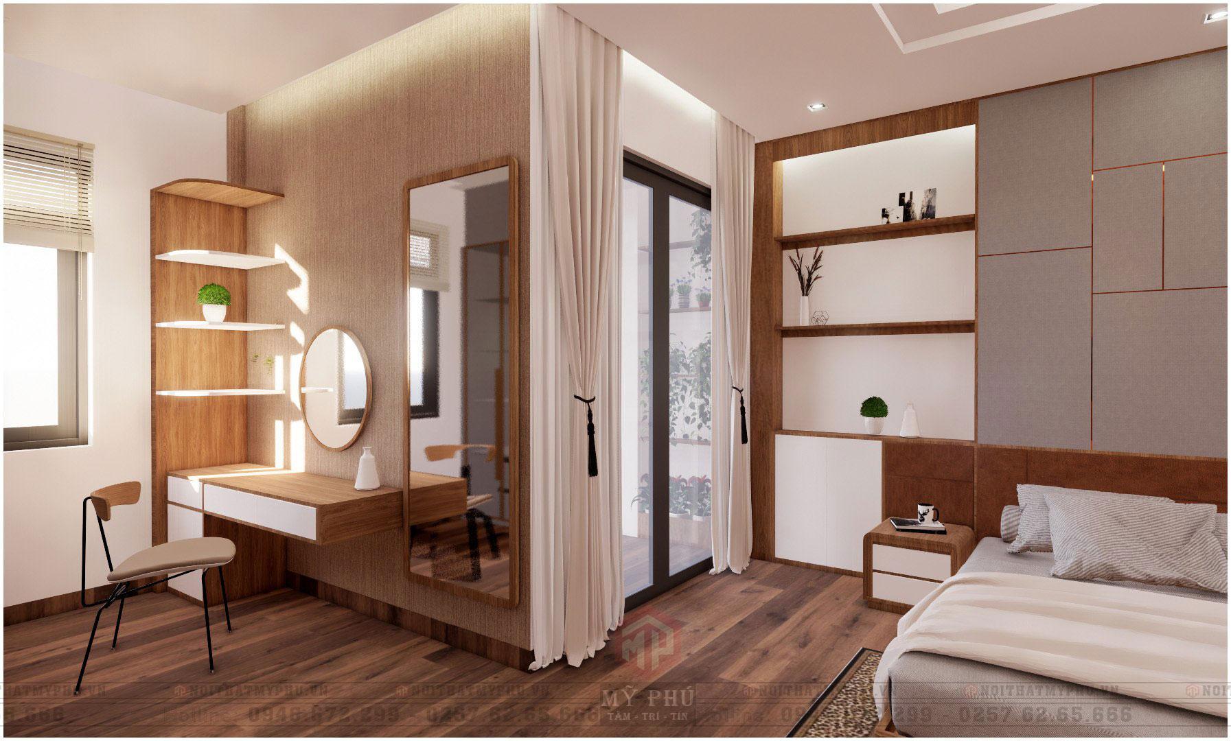 Phòng ngủ master tại Nhà Phố 5x20