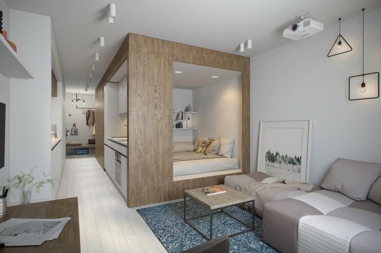 thiết kế nội thất chung cư 30m2 1 phòng ngủ